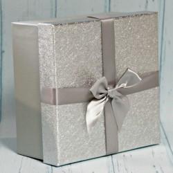 Pudełko prezentowe srebrne 12,5cm