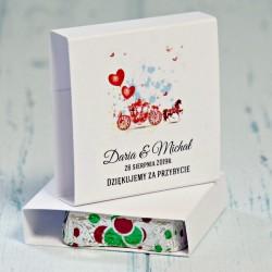 Podziękowanie dla gości weselnych - czekoladka Malaga