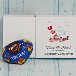 Podziękowanie dla gości czekoladka Tiki Taki