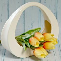 Koszyk ceramiczny kremowy większy