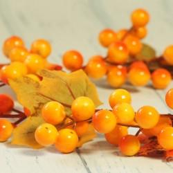 Wianek jesienny pomarańczowy z głogiem
