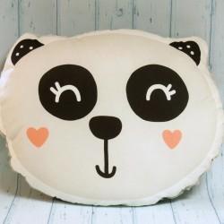 Panda ręcznie szyta poduszka
