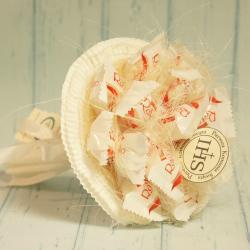 Komunijny bukiet z cukierków Raffaello