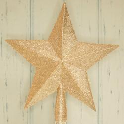 Szpic na choinkę, złota gwiazda