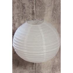 LAMPION PAPIEROWY BIAŁY 25 cm