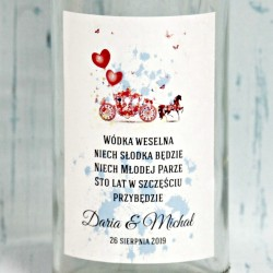 Naklejka na wódkę weselną, Sofia