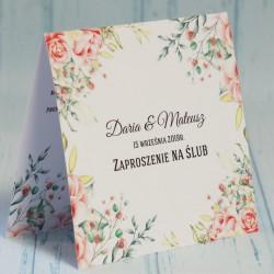 Zaproszenie ślubne z kwiatami Amelia