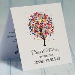 Zaproszenie ślubne z drzewem Emma