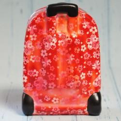 Skarbonka-walizka na kółkach czerwona
