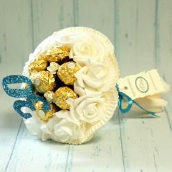 Cukierkowy bukiet z 7 Ferrero Rocher dla mężczyzny