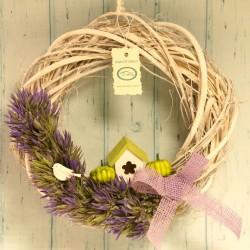 Wianek jesienny fioletowy 30 cm