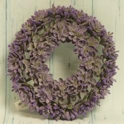 Wianek ozdobny fioletowy 21 cm