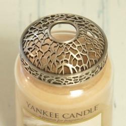 Nakładka czarno-szara na dużą świecę Yankee Candle