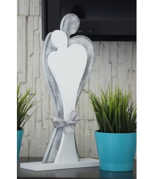 Zakochana Para - drewniane figurki, 59 cm