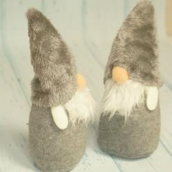 Mikołaj pluszowy szary 20 cm