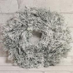 Stroik świąteczny ośnieżony świerk