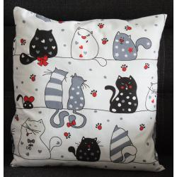 Poduszka z kotami,...