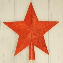 Szpic na choinkę, czerwona gwiazda