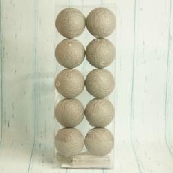 Cotton balls 10 szarych kulek LED