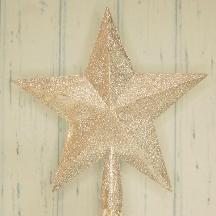 Szpic na choinkę, srebrna gwiazda