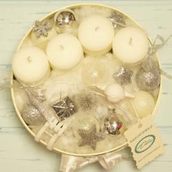 Flowerbox świecznik świąteczny średni, rękodzieło