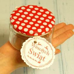 Słoiczki świąteczne na miód lub herbatę