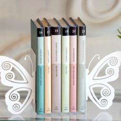 Podpórka do książek, 2 metalowe skrzydła motyla