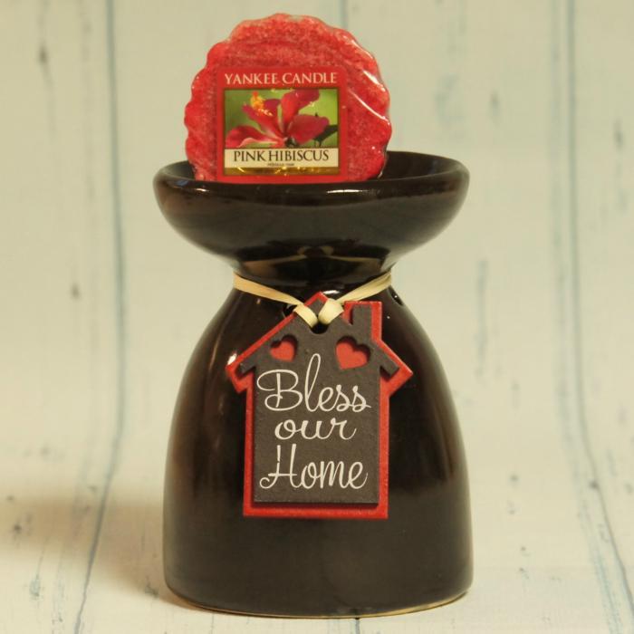 Kominek czarny do wosków i olejków czarny Bless Our home