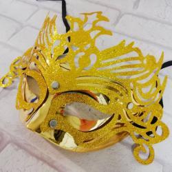 Maska karnawałowa złota, z ornamentem