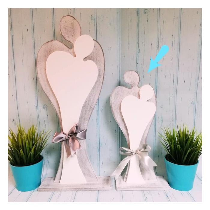 Zakochana Para - drewniane figurki, 41 cm