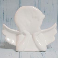 Anioł biały, ceramiczny, bardzo duży