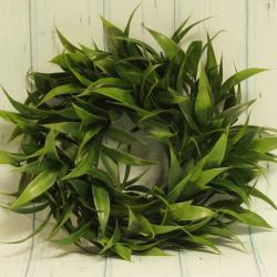 Wianek, stroik ozdobny, zielone liście