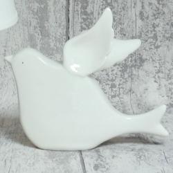 Gołąbek ceramiczny biały
