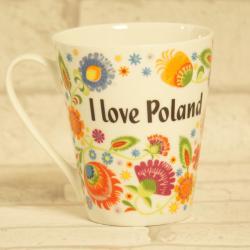 Kubek I love Poland w stylu folk