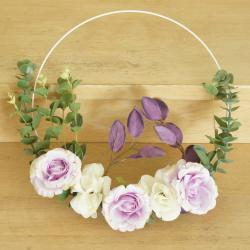 Wianek na drzwi, wiosenny, fioletowy