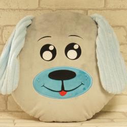 Piesek niebieski, ręcznie szyta poduszka