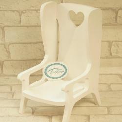 Krzesełko drewniane dla lalek, króliczka, ręcznie wykonane mebelki, donadekoracje.pl