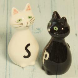 Solniczka pieprzniczka koty, przyprawniki koty, donadekoracje.pl, dla kociary,