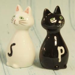 Solniczka pieprzniczka kotki, przyprawniki koty, donadekoracje.pl, dla kociary,