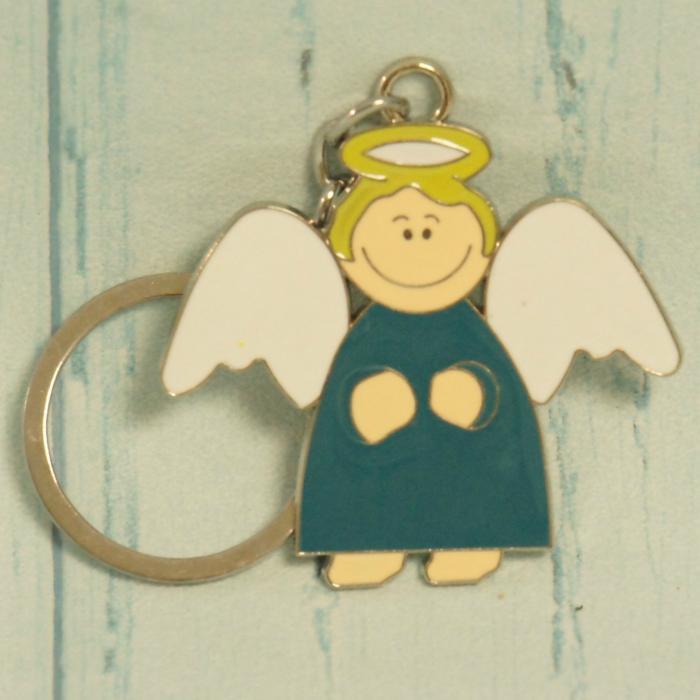 Breloczek, brelok na klucze, niebieski  aniołek, donadekoracje.pl