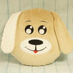 Piesek beżowy, ręcznie szyta poduszka