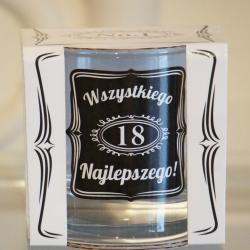 Szklanka do whisky na 18 urodziny