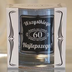 Szklanka do whisky na 60 urodziny