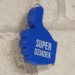 Breloczek na klucze z miarką Super Dziadek, zawieszka na klucze dla dziadka, donadekoracje.pl