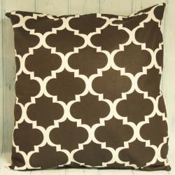Poduszka czarna w marokański wzór, czarne dodatki do domu, eleganckie czarne dekoracje domu, donadekoracje.pl