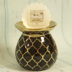 Kominek do wosków czarny w marokański wzór