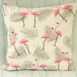 Poduszka flamingi, poduszka w różowe flamingi, letnia poduszka, letnie dodatki do domu, donadekoracje.pl
