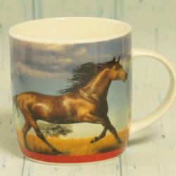 Kubek z koniem, dla miłośnika koni, motyw konia, prezent dla jeźdźca, donadekoracje.pl