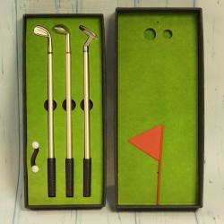 Długopisy golfisty z mini polem golfowym