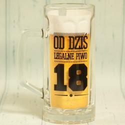 Kufel na 18 urodziny z napisem: od dziś legalne piwo